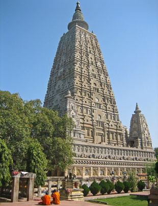 インドの世界遺産「ブッダガヤの大菩提寺」、大菩提寺=マハーボディ