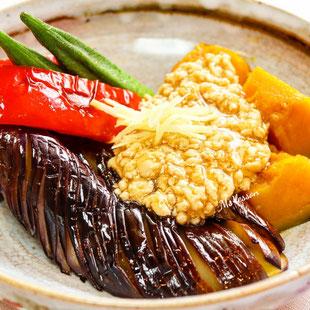 野菜とひき肉餡