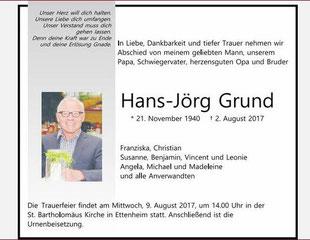 02.08.2017  Hans-Jörg Grund