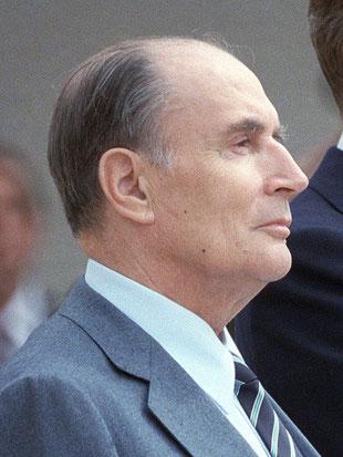 François Mitterrand en 1984. [Public Domain]
