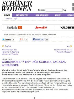"""Presseveröffentlichung """"Schöner Wohnen"""""""