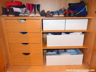 Organiza bien el armario del Bebé - www.AorganiZarte.com