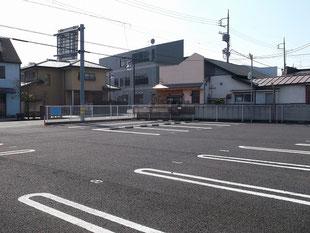 JR桐生駅前の貸し駐車場