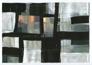Monika Humm, global Hongkong 81, 2016, Mt/Papier, 17,5x25cm