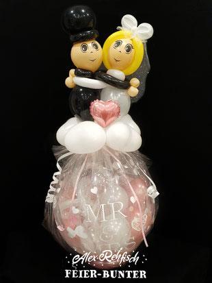 S 003 - Geschenkballon Brautpaar - 39,90€