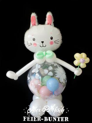 G 046 - Bubble Hase besteht aus hochwertigen Bubble-, Folien- & Pastellballons ca. 95cm - 33,90€