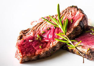 Entrecôte with rosemary.