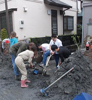 3.11東日本大震災での液状化の様子