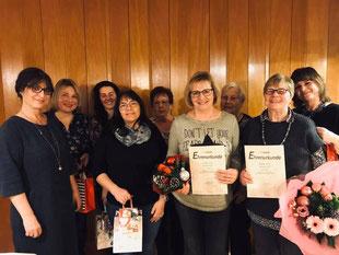 Alle Damen der FU Puschendorf mit den Ehrenmitgliedern