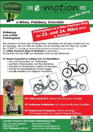 Einladung Frühjahrsfest in Tuttlingen