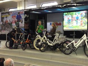 Vortrag e-motion auf Fahrrad Messe Essen mit ELEKTRORAD