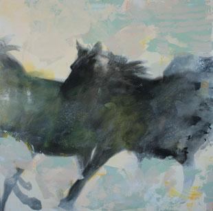 Pferde.Acryl/Leinwand.100x100cm