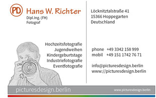 Visitenkarte Hans W. Richter - Picturedesign.Berlin