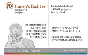 Visitenkarte Hans W. Richter - Picturedesign.Berlin
