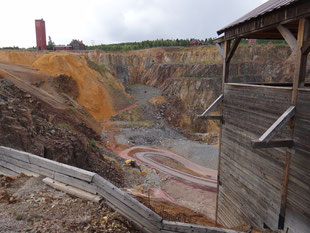 La mine de cuivre de Falun