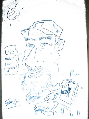 Caricature d'Alain Besse