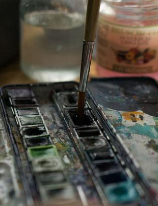 Küken gemalt Kunsttherapie