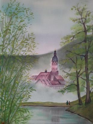 Solmsee Baden-Baden 40 x 56 cm 2014/3