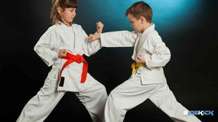 Kinder trainieren Karate in Lindau
