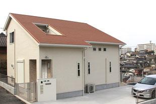 屋根の中に バルコニー がある家(北九州市八幡東区 M様邸)