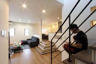 子供を見守れる 空間に変化のある ゼロ・エネ住宅(古賀市 Y様邸)