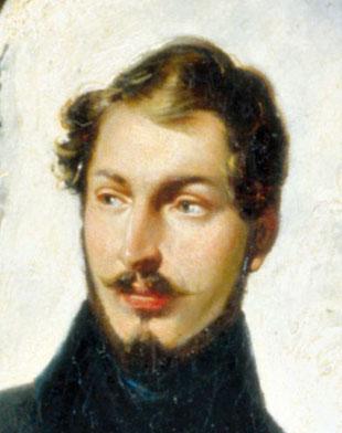Louis Napoleon mit der charakteristisch spitzen Nase