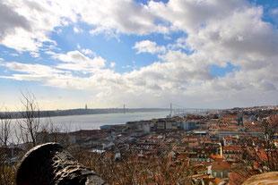 Blick vom Castelo Sao Jorge