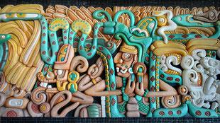 Mural de inspiración maya by Lucy Nieto