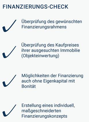 Der Finanzierungs-Check für die Baufinanzierung in Würzburg.