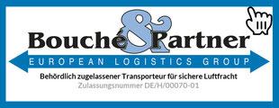 Logo der Bouché & Partner GmbH | behördlich zugelassener Transporteur für sichere Luftfracht