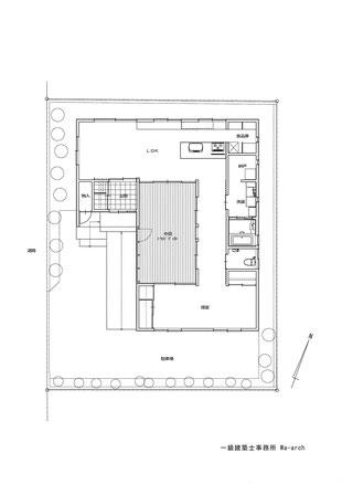 平屋戸建て平面図