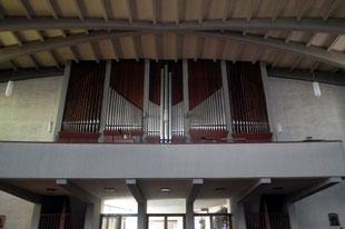 dudweiler, saarbruecken, kirche, st. barbara, orgel
