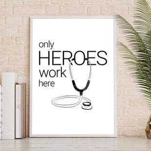 4onepictures - hero - alltagshelden - krankenhaus - pfleger - krankenschwester - geschenk -danke -arzt - poster - a4 - digitaler download - gratis - umsonst