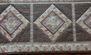 Madame Marie, Aus meinem Atelier, Quilts, Detail Quiltdecke