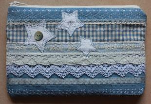 Madame Marie, Aus meinem Atelier, Mäppchen,  blau, mit Sternen