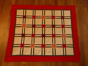 Madame Marie, Aus meinem Atelier, Quilts, Weihnachtsquilt, rot, beige, orange