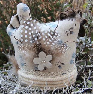Madame Marie, Aus meinem Atelier, Materialpackung, Glückliches Huhn