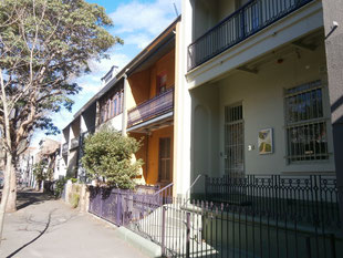 シドニー近郊のテラスハウス