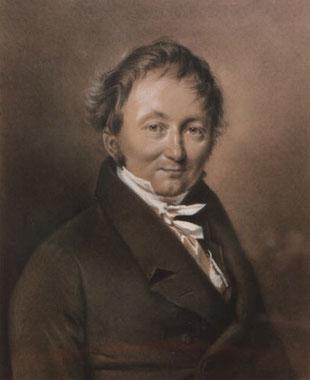 Original Portrait von Freiherr Karl Friedrich von Drais zu Sauerbronn