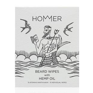 HOMMER Bartreinigungstücher Beard Wipes 15 Stück Bartpflege