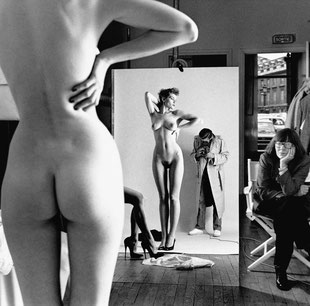 Self Portrait with Wife and Models, Vogue Studio, Paris 1981 © Helmut Newton Estate / Maconochie Photography