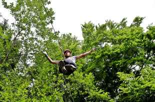 Kletterpark Schöckl Zipline Flyingfox Junge