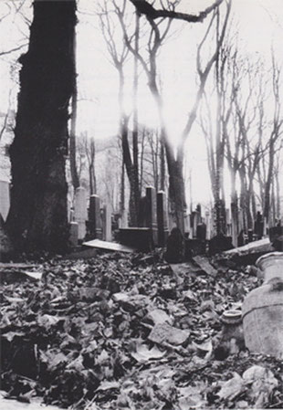 The Jewish cemetery in 1999