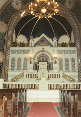 The inside of the synagogue after the renovation in 2007