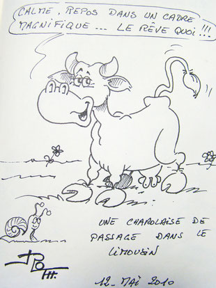 De la part de Roger Thisselin, illustrateur au Salon de l'Humour de Saint-Just-le-Martel 87590