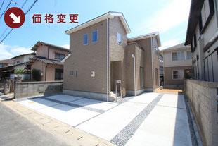 岡山市中区東川原の新築一戸建て分譲住宅の外観 物件詳細ページにリンク