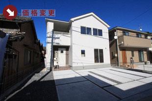 岡山県岡山市東区西大寺中の新築一戸建て分譲住宅の外観 物件詳細ページにリンク