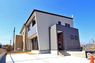 岡山市北区目黒町の新築一戸建て分譲住宅の外観 物件詳細ページにリンク