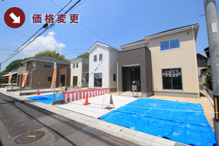 岡山県倉敷市八島の新築一戸建て分譲住宅の外観 物件詳細ページにリンク