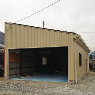 建築 施工例 岡山市の新築 太陽光発電設置 多目的倉庫の詳細情報ページへのリンク
